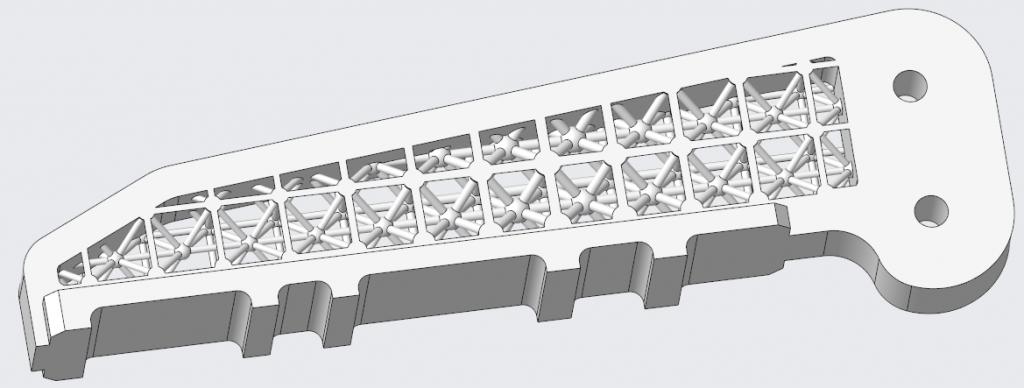 Grafika przedstawiająca model gotowy do wydruku.