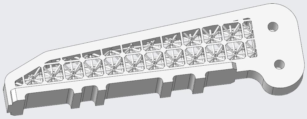 Grafika przedstawiająca wycięcie wypełnione domyślną siatką.