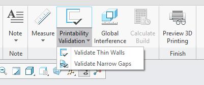 Grafika przedstawiająca narzędzia weryfikacji modelu przed wydrukiem.