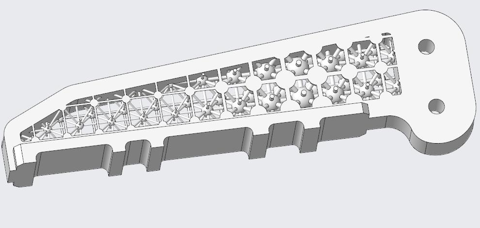 Grafika przedstawiająca siatkę 3D o zmiennej gęstości.