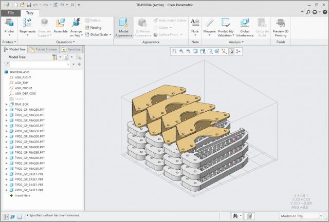 Grafika przedstawiająca wiele modeli przygotowanych do wydruku.