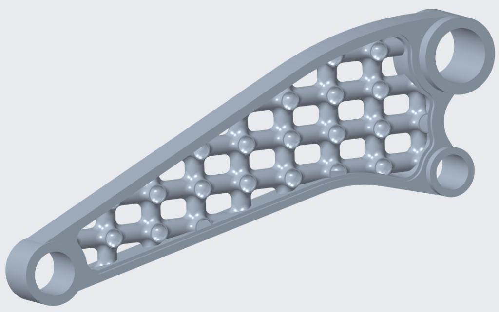 Grafika przedstawiająca siatkę zmienioną po modyfikacji modelu referencyjnego.