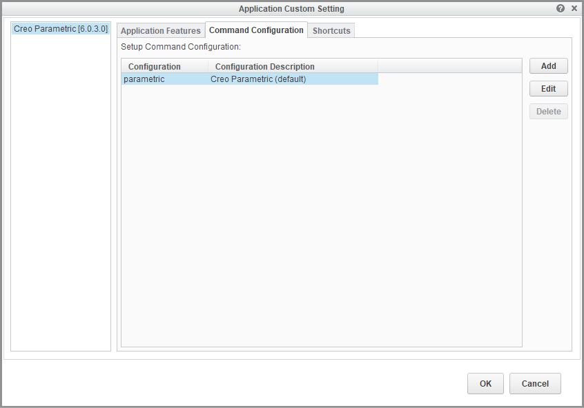 Grafika przedstawiająca zakładkę z listą konfiguracji licencji Creo w oknie instalatora.