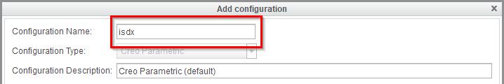 Grafika przedstawiająca definiowanie nazwy konfiguracji startowej Creo Parametric.