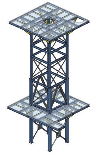 Struktura kratownicowa przygotowana za pomocą Creo Advanced Framework (AFX).