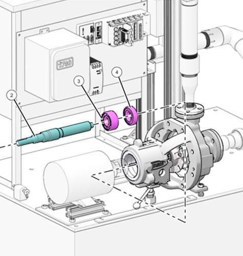 Grafika przedstawiająca wykonaną w Creo Illustrate ilustrację serwisową maszyny.