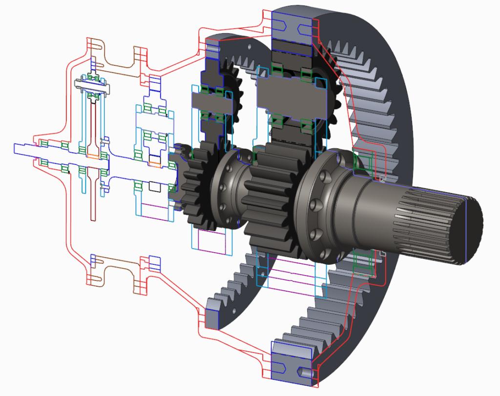 Grafika obrazująca wykorzystanie danych 2D z Creo Layout do przygotowania geometrii 3D.