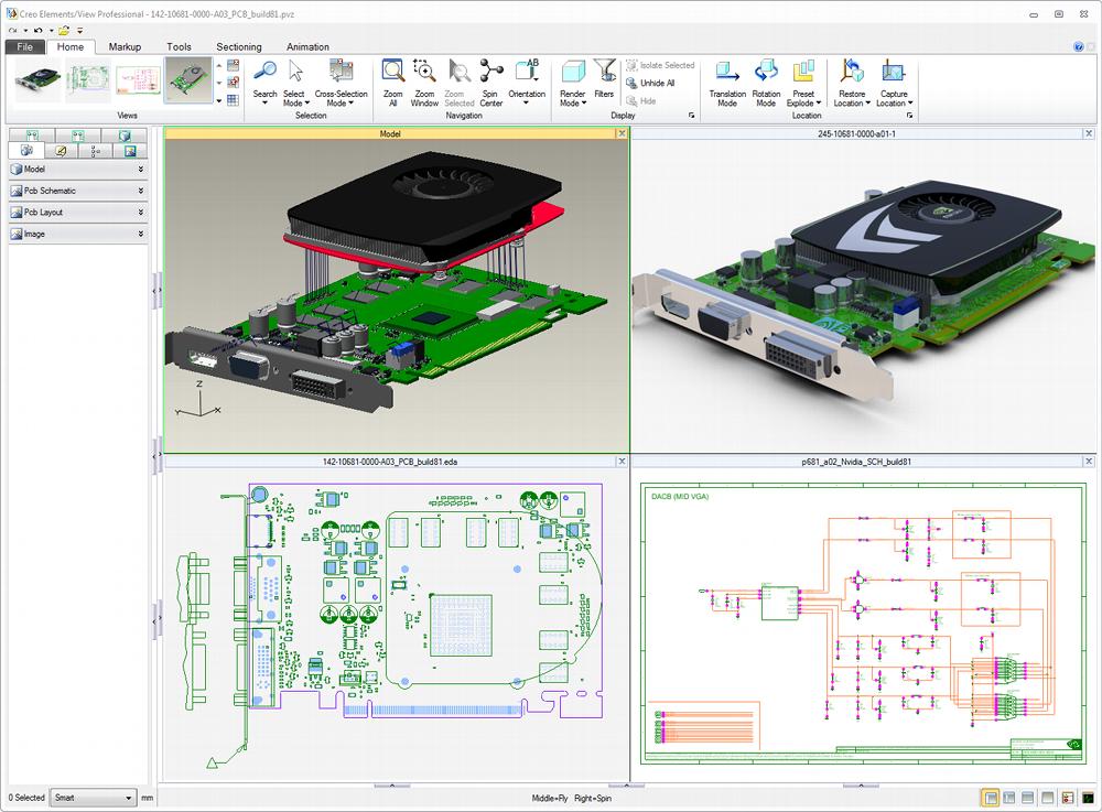 Grafika pzedstawiająca wereyfikację projektów elektronicznych w nawiązaniu do projektu mechanicznego w Creo View ECAD.