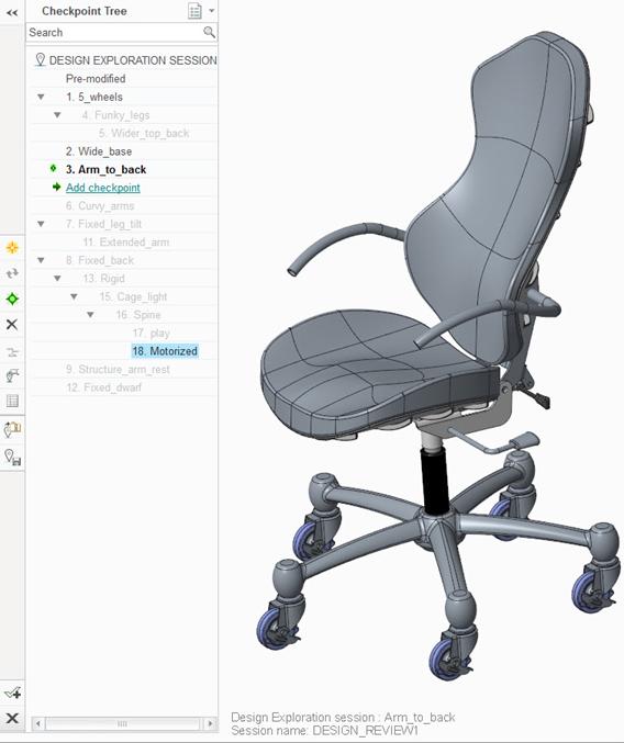 Grafika przedstawiająca interfejs rozszerzenia Creo Design Exploration.